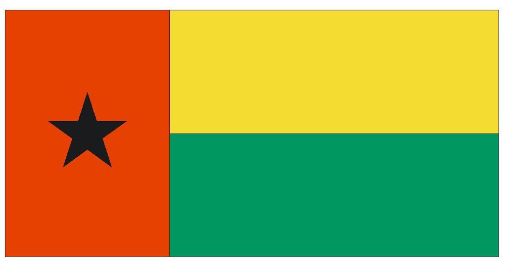 GUINEA BISSAU Vinyl International Flag DECAL Sticker MADE IN THE USA F204 - Winter Park Products