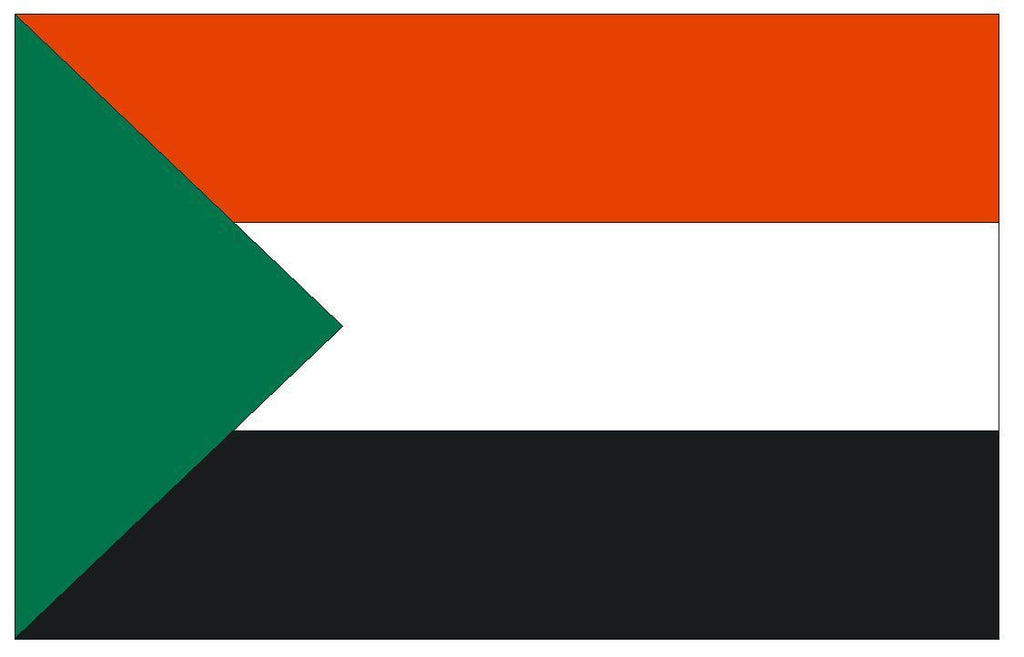 SUDAN Vinyl International Flag DECAL Sticker MADE IN THE USA F482 - Winter Park Products