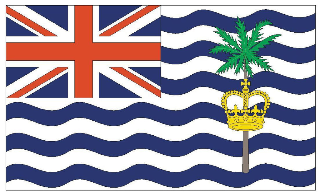 BRITISH INDIAN OCEAN Flag Vinyl International Flag DECAL Sticker MADE IN USA F69 - Winter Park Products