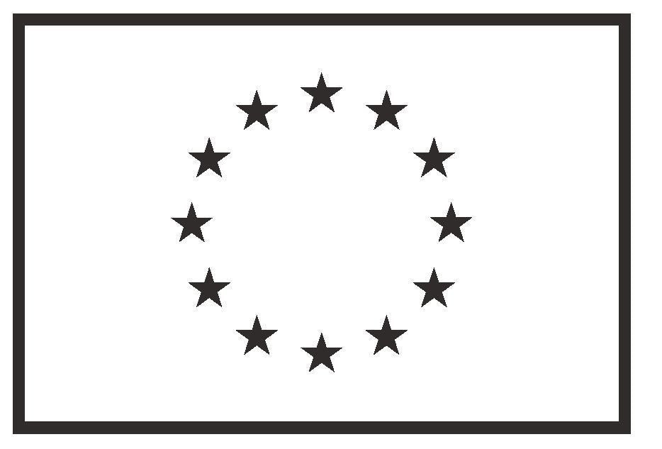 EUROPEAN UNION Vinyl International Flag DECAL Sticker MADE IN THE USA F160 - Winter Park Products