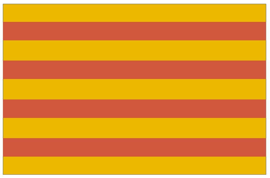 CATALONIA Flag Vinyl International Flag DECAL Sticker MADE IN USA F88 - Winter Park Products