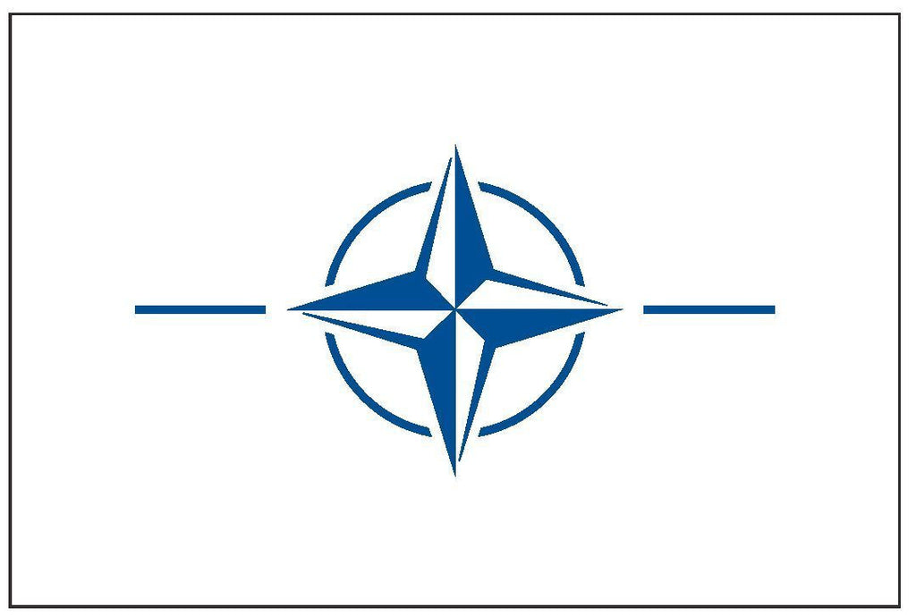 NATO Vinyl International Flag DECAL Sticker MADE IN THE USA F332 - Winter Park Products
