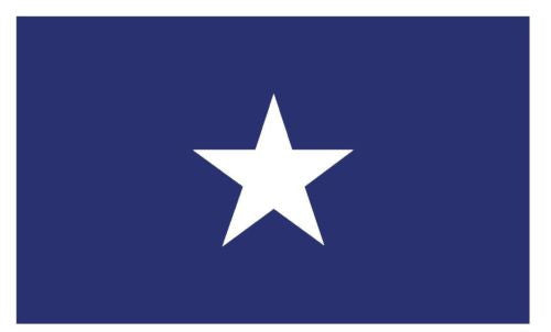 United States Historic Bonnie Blue Flag Sticker Decal MADE IN USA F598 - Winter Park Products