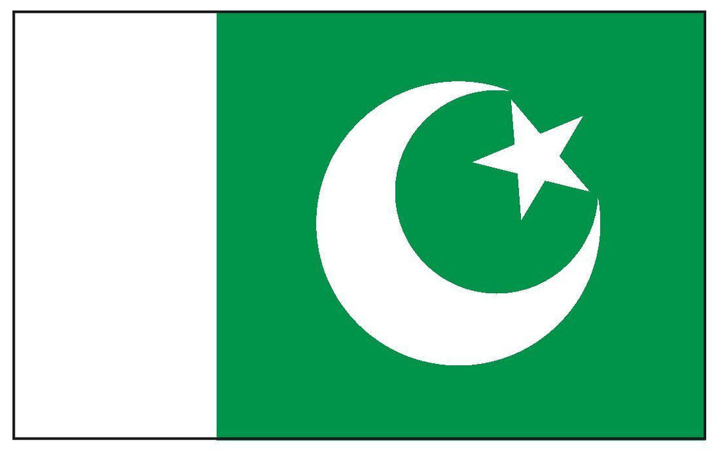 PAKISTAN Vinyl International Flag DECAL Sticker MADE IN THE USA F381 - Winter Park Products