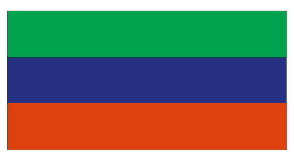 DAGESTAN DAGHESTAN Vinyl International Flag DECAL Sticker MADE IN THE USA F130 - Winter Park Products