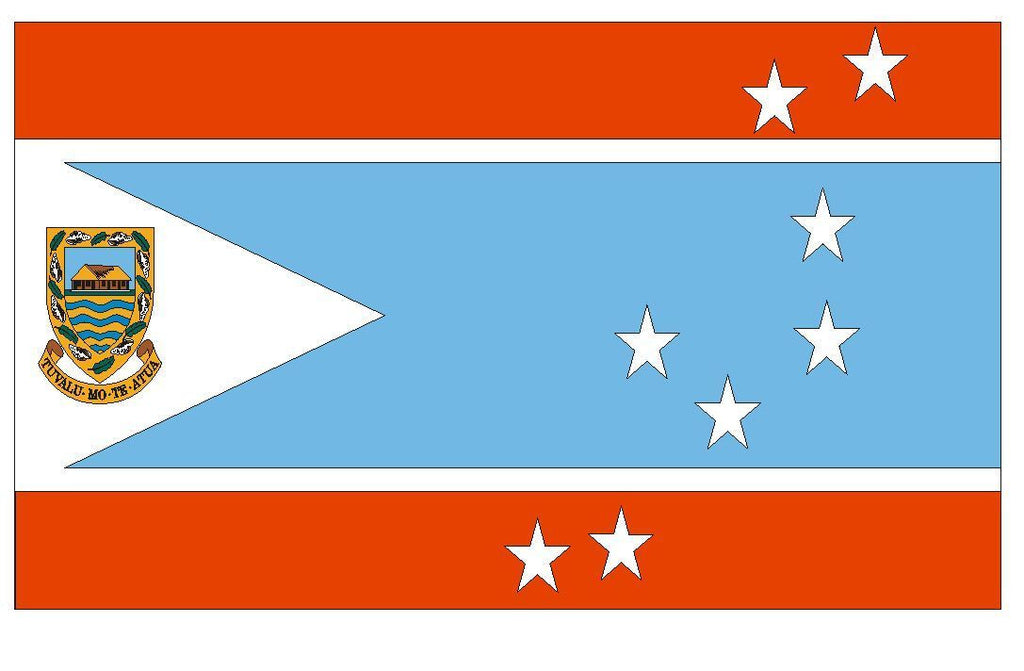 TUVALU Vinyl International Flag DECAL Sticker MADE IN THE USA F520 - Winter Park Products