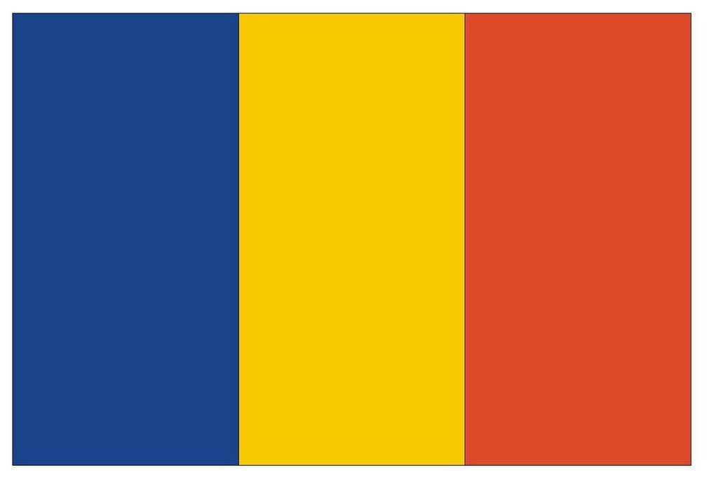 CHAD Flag Vinyl International Flag DECAL Sticker MADE IN USA F92 - Winter Park Products