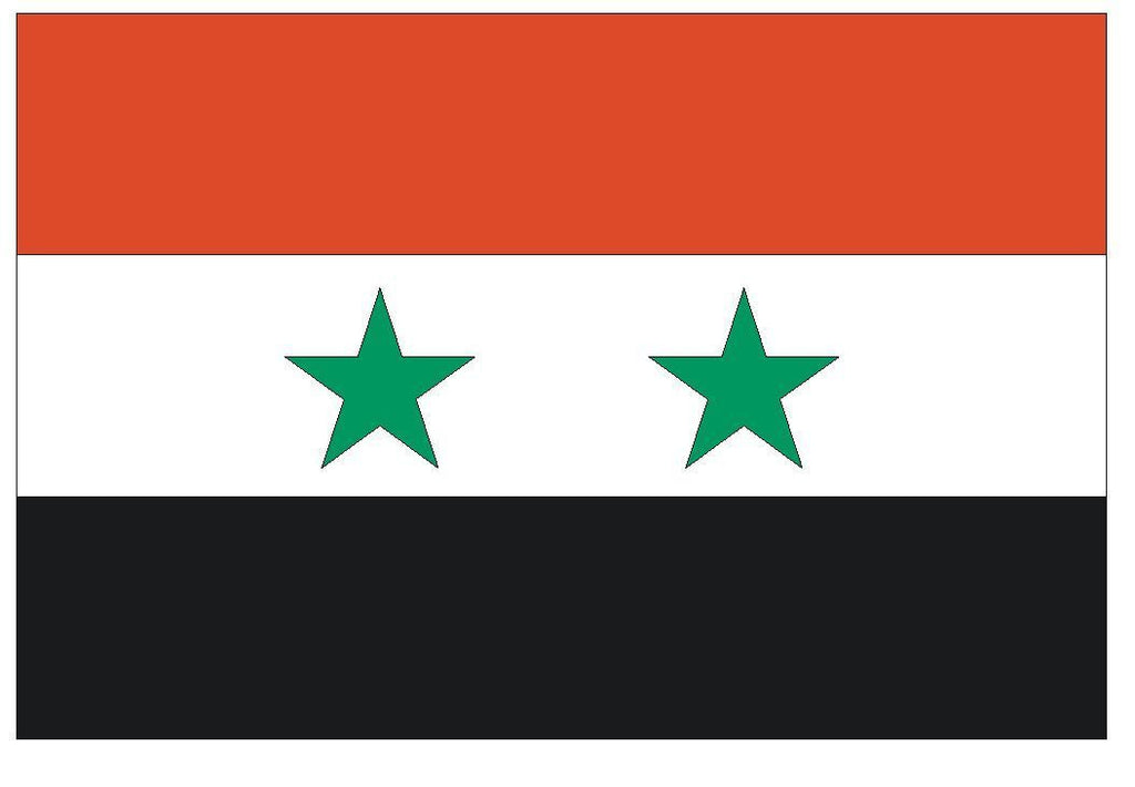 SYRIA Vinyl International Flag DECAL Sticker MADE IN THE USA F488 - Winter Park Products