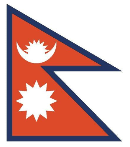 NEPAL Vinyl International Flag DECAL Sticker MADE IN THE USA F337 - Winter Park Products
