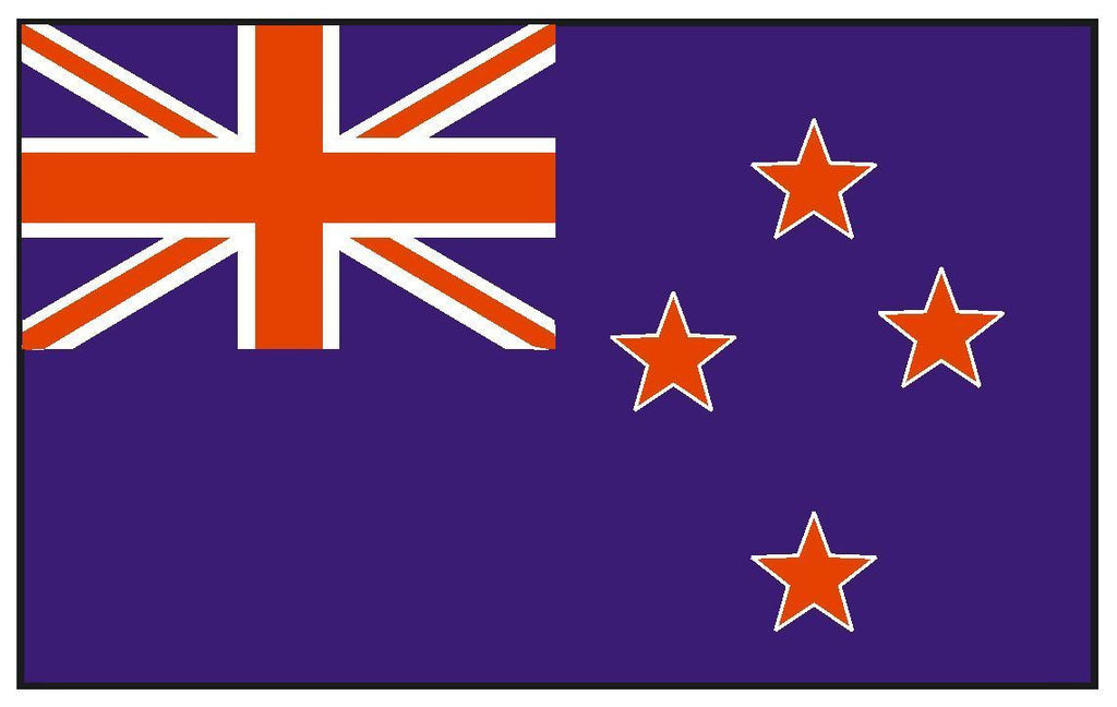 NEW ZEALAND Vinyl International Flag DECAL Sticker MADE IN THE USA F349 - Winter Park Products