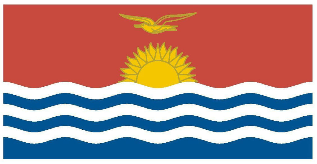 KIRIBATI Vinyl International Flag DECAL Sticker MADE IN THE USA F259 - Winter Park Products