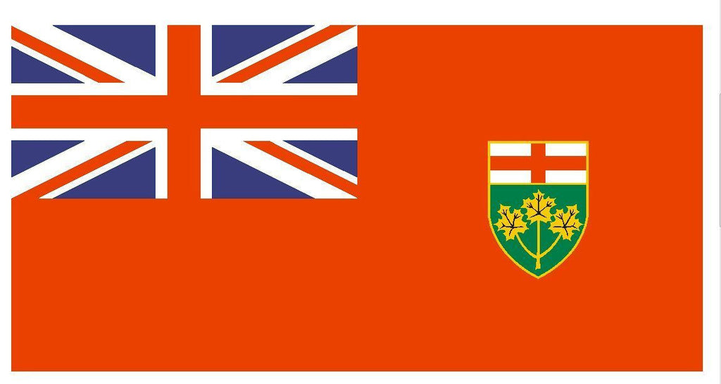 ONTARIO CANADA Vinyl International Flag DECAL Sticker MADE IN THE USA F372 - Winter Park Products