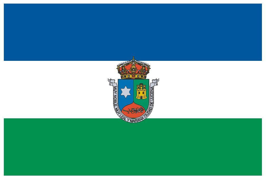 LUCENA Spain Vinyl International Flag DECAL Sticker MADE IN THE USA F290 - Winter Park Products