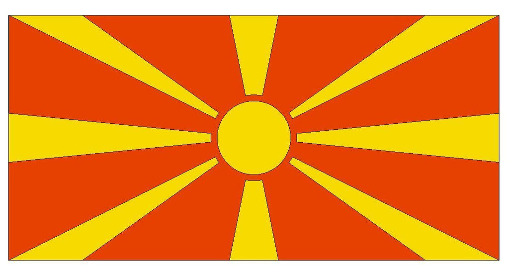 MACEDONIA Vinyl International Flag DECAL Sticker MADE IN THE USA F292 - Winter Park Products
