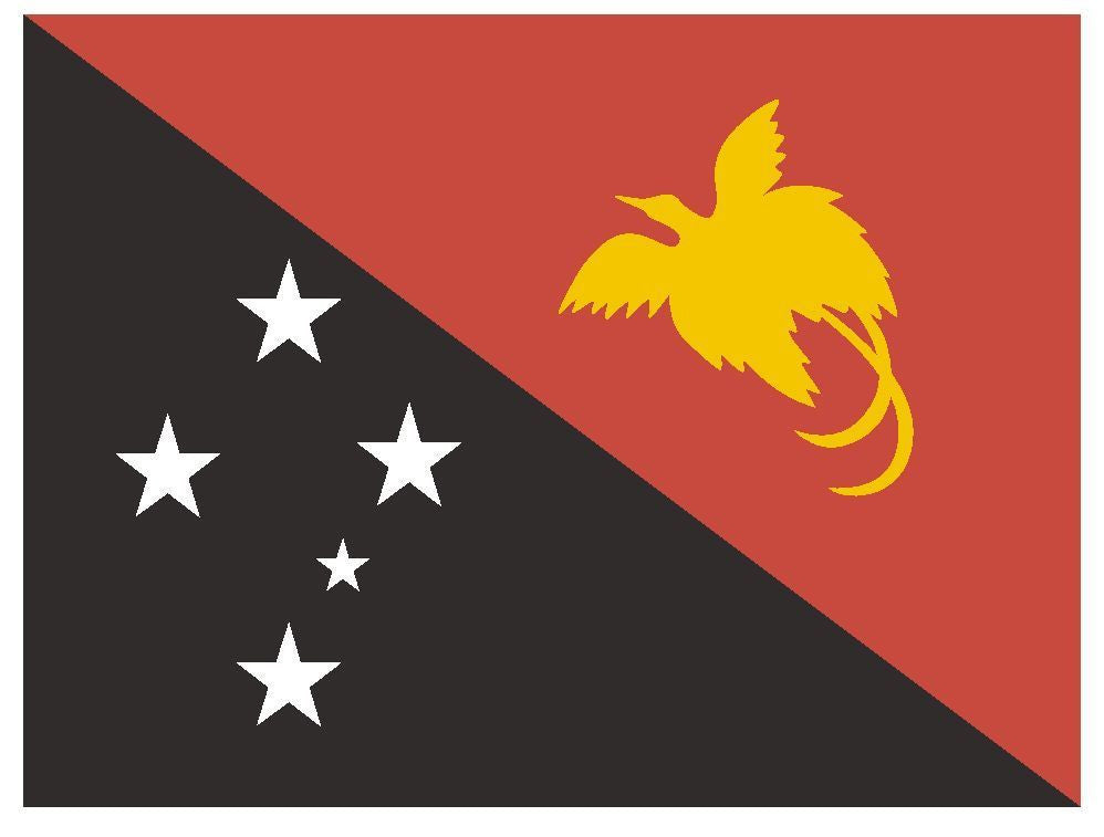 PAPUA NEW GUINEA Vinyl International Flag DECAL Sticker MADE IN THE USA F387 - Winter Park Products