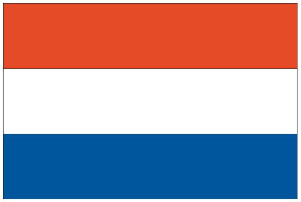 NETHERLANDS Vinyl International Flag DECAL Sticker MADE IN THE USA F338 - Winter Park Products