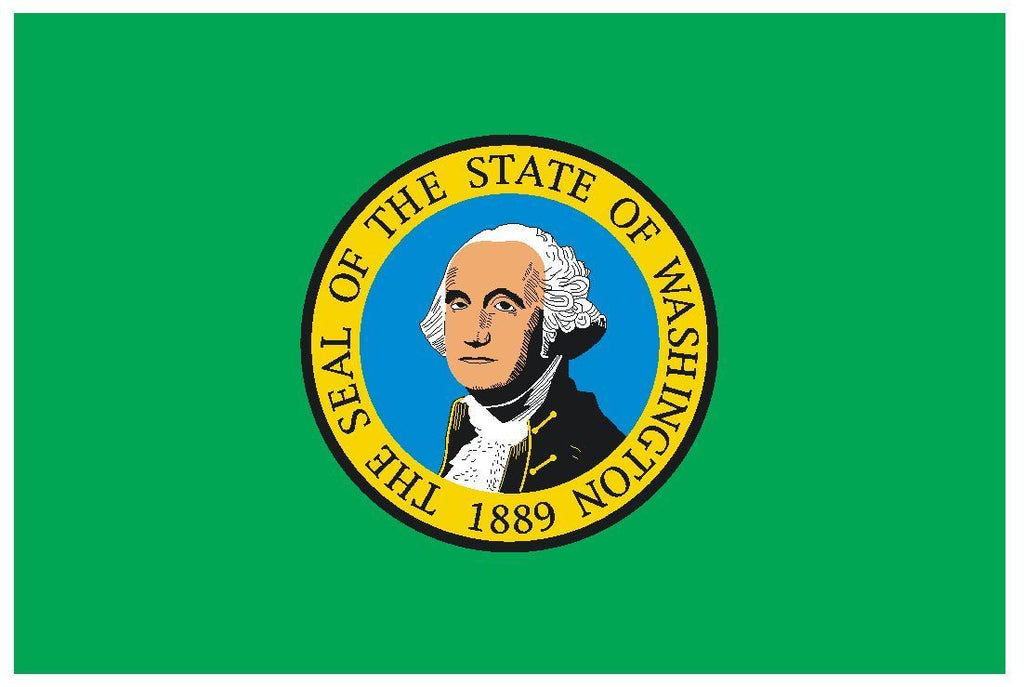 WASHINGTON Vinyl State Flag DECAL Sticker MADE IN THE USA F550 - Winter Park Products