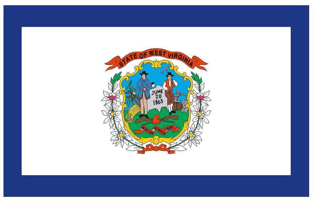 WEST VIRGINIA Vinyl State Flag DECAL Sticker MADE IN THE USA F552 - Winter Park Products