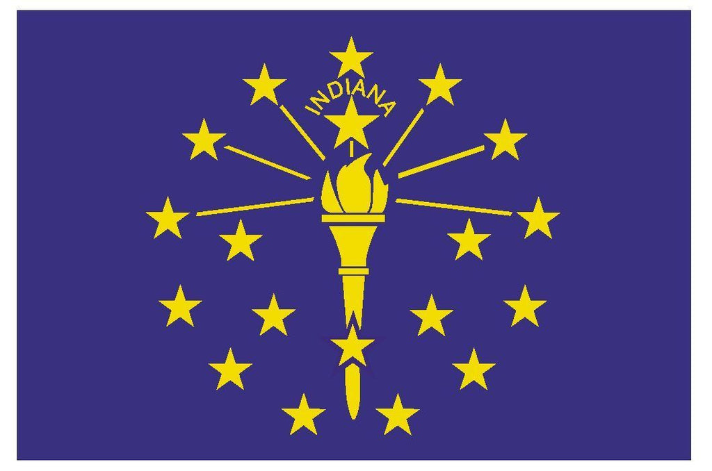 INDIANA Vinyl State Flag DECAL Sticker MADE IN THE USA F228 - Winter Park Products