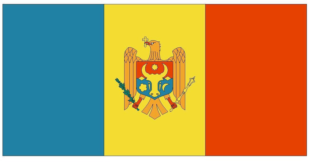 MOLDOVA Vinyl International Flag DECAL Sticker MADE IN THE USA F314 - Winter Park Products