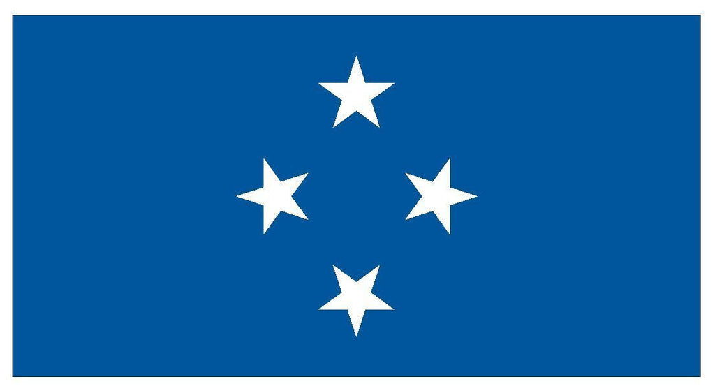 MICRONESIA Vinyl International Flag DECAL Sticker MADE IN THE USA F308 - Winter Park Products