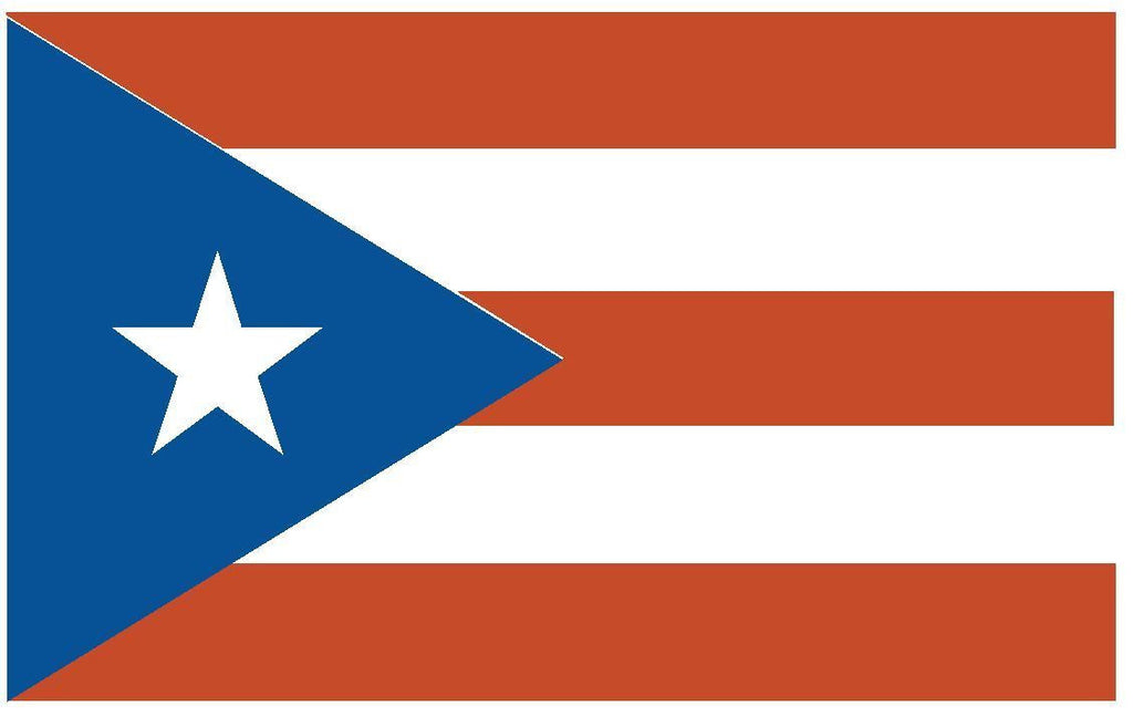 PUERTO RICO Vinyl International Flag DECAL Sticker MADE IN THE USA F405 - Winter Park Products