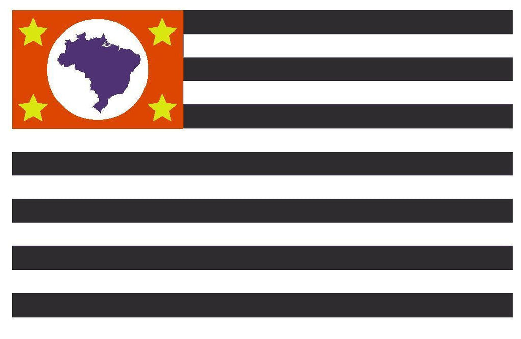 SAO PAULO Brazil Vinyl International Flag DECAL Sticker MADE IN THE USA F441 - Winter Park Products