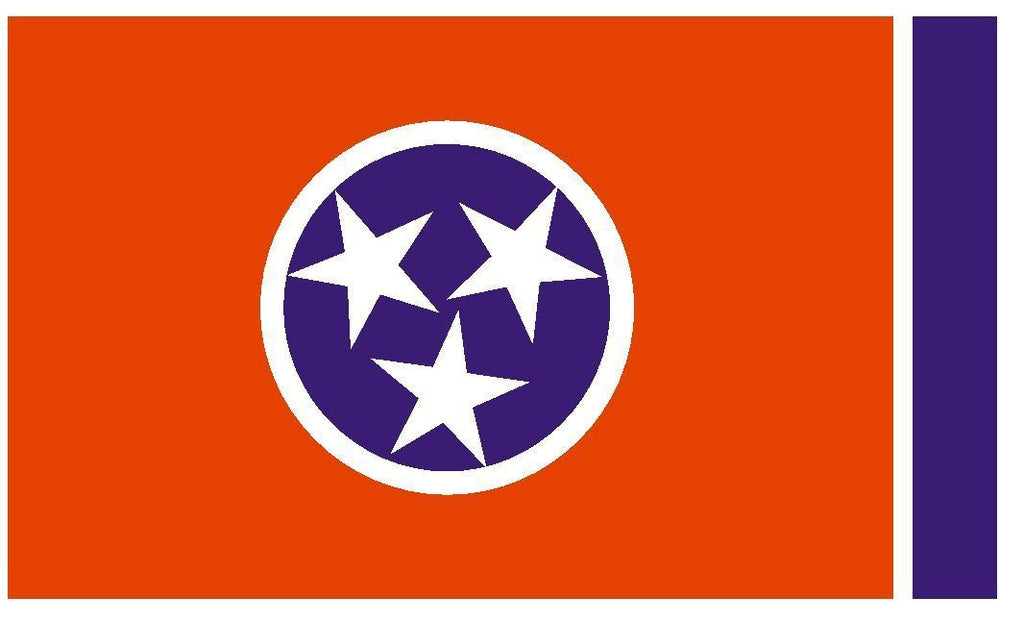 TENNESSEE Vinyl State Flag DECAL Sticker MADE IN THE USA F500 - Winter Park Products