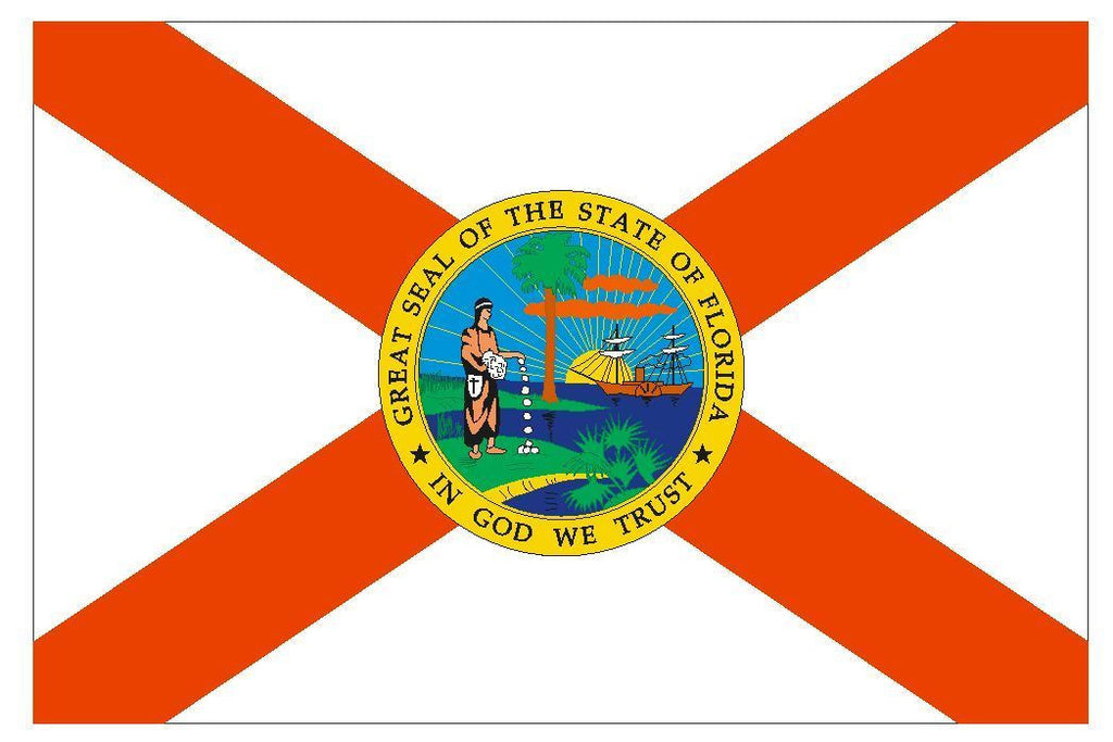 FLORIDA Vinyl State Flag DECAL Sticker MADE IN THE USA F168 - Winter Park Products