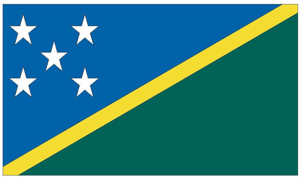SOLOMON ISLANDS Vinyl International Flag DECAL Sticker MADE IN THE USA F462 - Winter Park Products