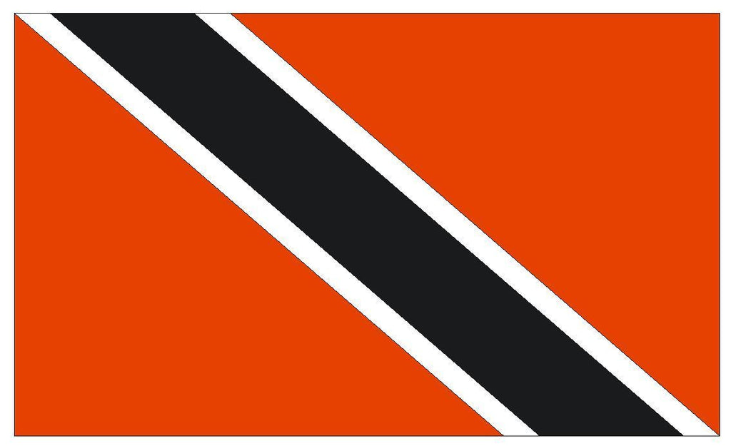 TRINIDAD & TOBAGO Vinyl International Flag DECAL Sticker MADE IN THE USA F513 - Winter Park Products