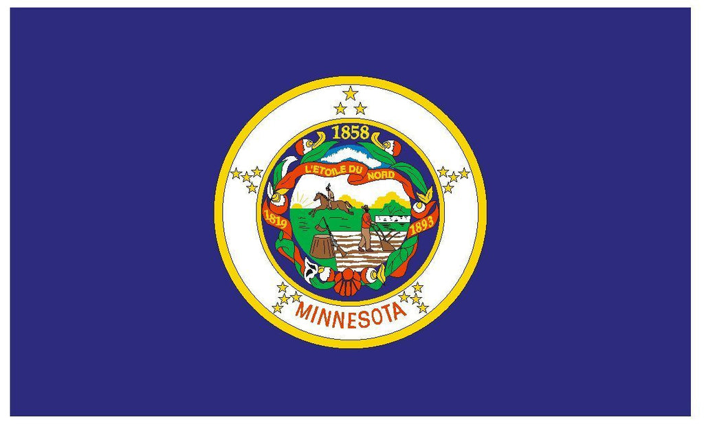 MINNESOTA Vinyl State Flag DECAL Sticker MADE IN THE USA F311 - Winter Park Products