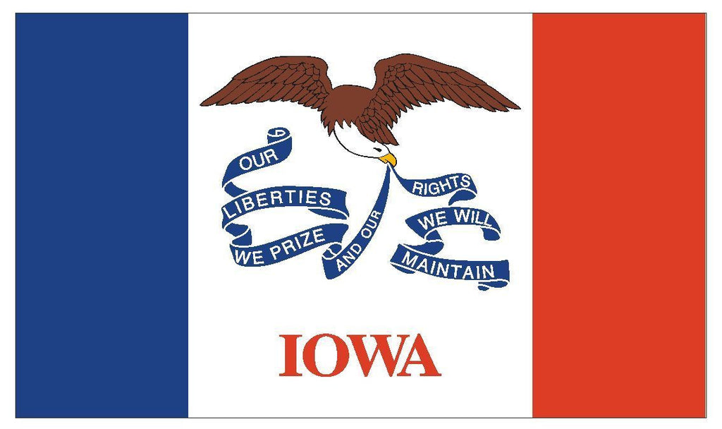 IOWA Vinyl State Flag DECAL Sticker MADE IN THE USA F231 - Winter Park Products