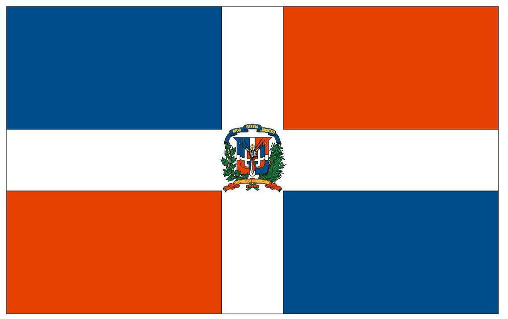 DOMINICAN REPUBLIC Vinyl International Flag DECAL Sticker MADE IN THE USA F139 - Winter Park Products