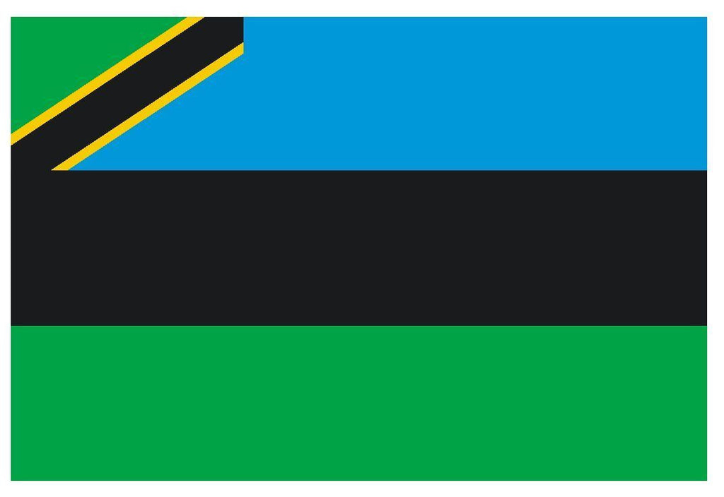 ZANZIBAR Vinyl International Flag DECAL Sticker MADE IN USA F570 - Winter Park Products
