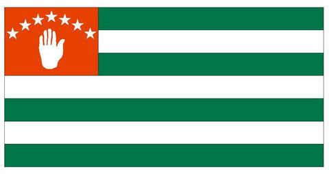 ABKHAZIA Vinyl Flag DECAL Sticker MADE IN USA FREE SHIPPING F04 - Winter Park Products