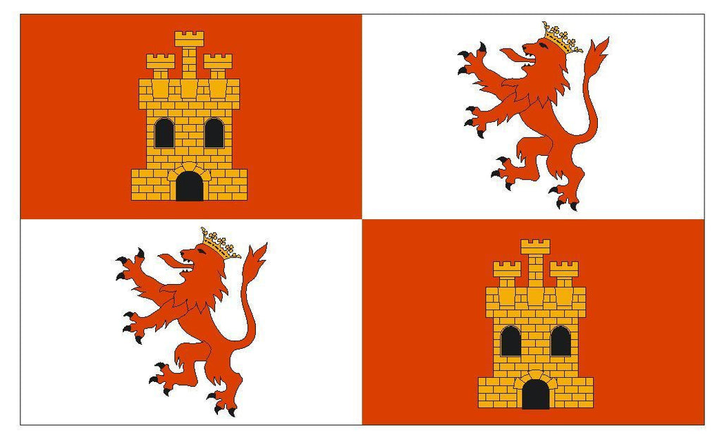 Royal Standard Spain Flag Vinyl DECAL Sticker MADE IN THE USA F605 - Winter Park Products