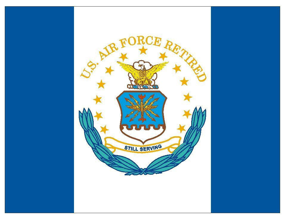 United States Air Force Retired Vinyl Military Flag DECAL Sticker USA MADE F586 - Winter Park Products