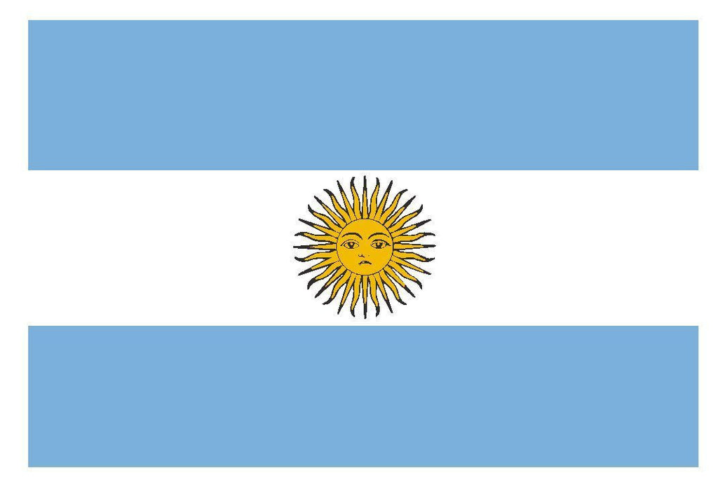 ARGENTINA Flag Vinyl International Flag DECAL Sticker MADE IN USA F31 - Winter Park Products