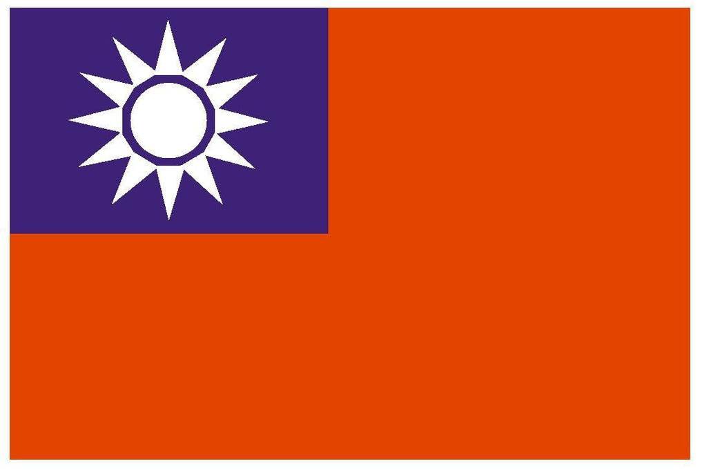 TAIWAN Vinyl International Flag DECAL Sticker MADE IN THE USA F490 - Winter Park Products