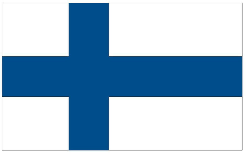 FINLAND Vinyl International Flag DECAL Sticker MADE IN THE USA F165 - Winter Park Products