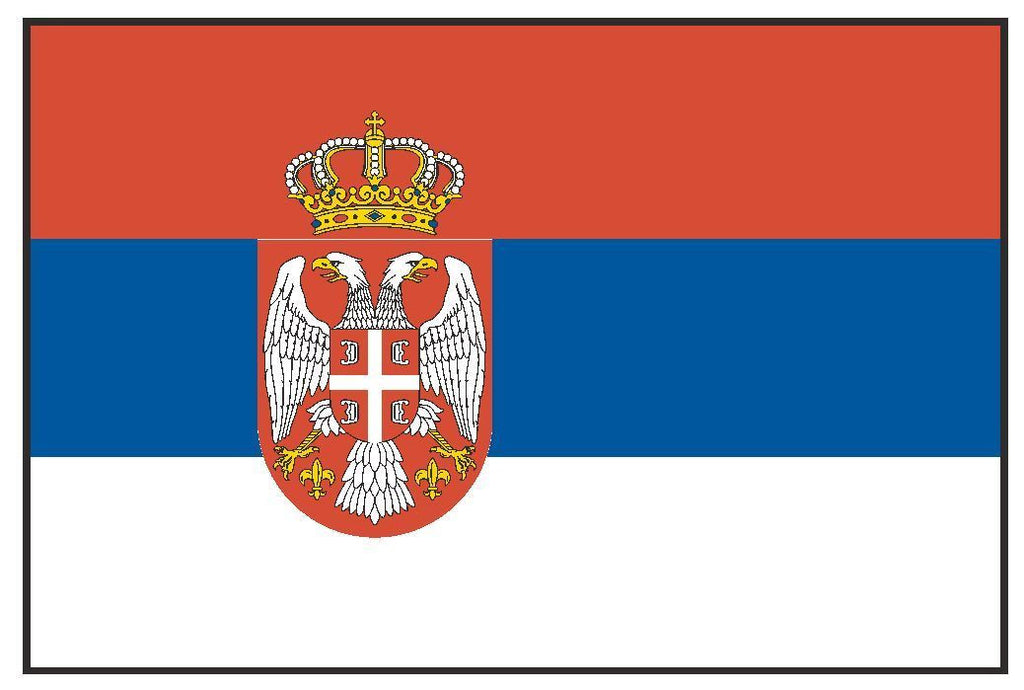 SERBIA & MONTENEGRO Vinyl International Flag DECAL Sticker MADE IN THE USA F452 - Winter Park Products