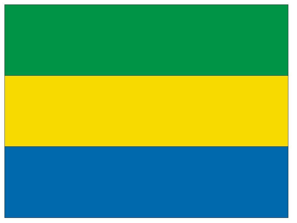 GABON Vinyl International Flag DECAL Sticker MADE IN THE USA F179 - Winter Park Products