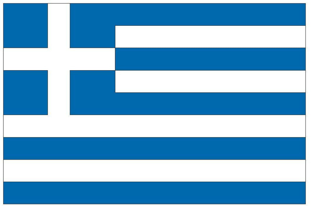 GREECE Vinyl International Flag DECAL Sticker MADE IN THE USA F195 - Winter Park Products