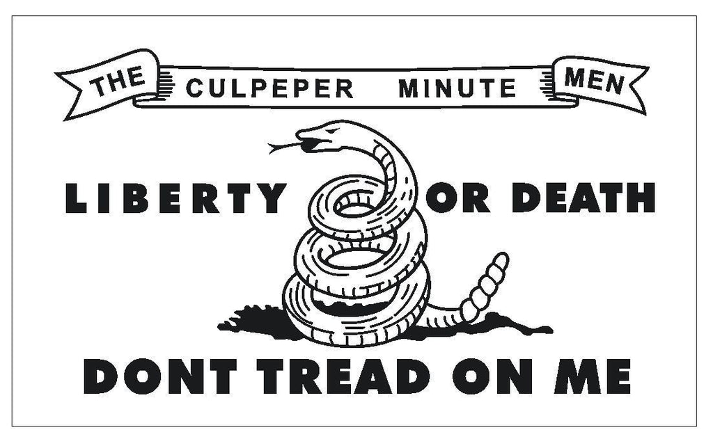 United States Historic Culpeper Flag Sticker Decal MADE IN USA F600 - Winter Park Products