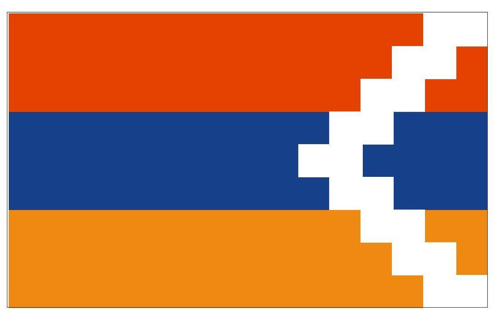 NAGORNO KARABAKH Vinyl International Flag DECAL Sticker MADE IN THE USA F329 - Winter Park Products
