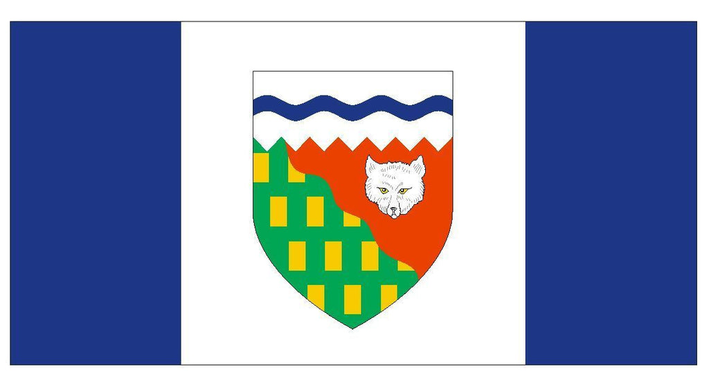 NORTHWEST TERRITORIES Vinyl International Flag DECAL Sticker MADE IN USA F363 - Winter Park Products
