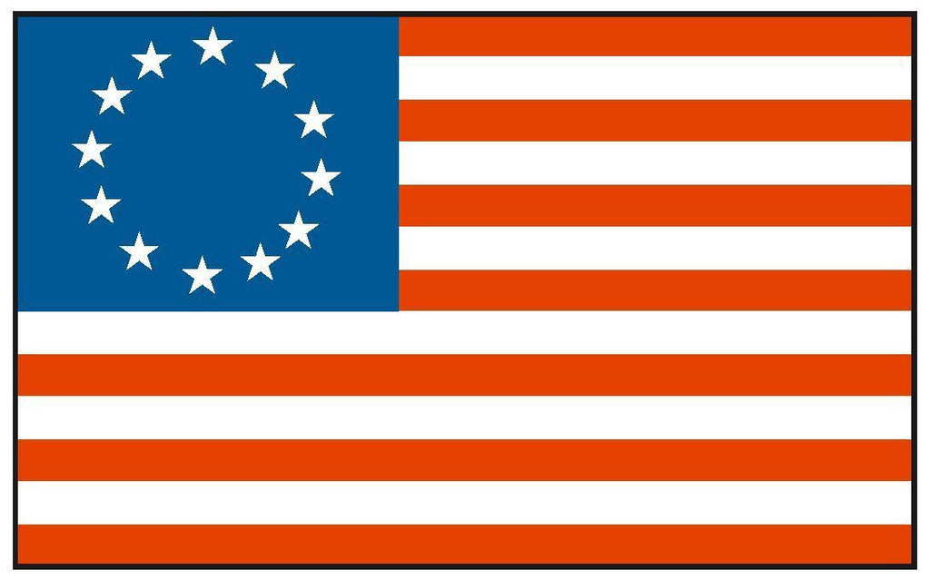 Historical BETSY ROSS Flag Sticker Decal F56 - Winter Park Products