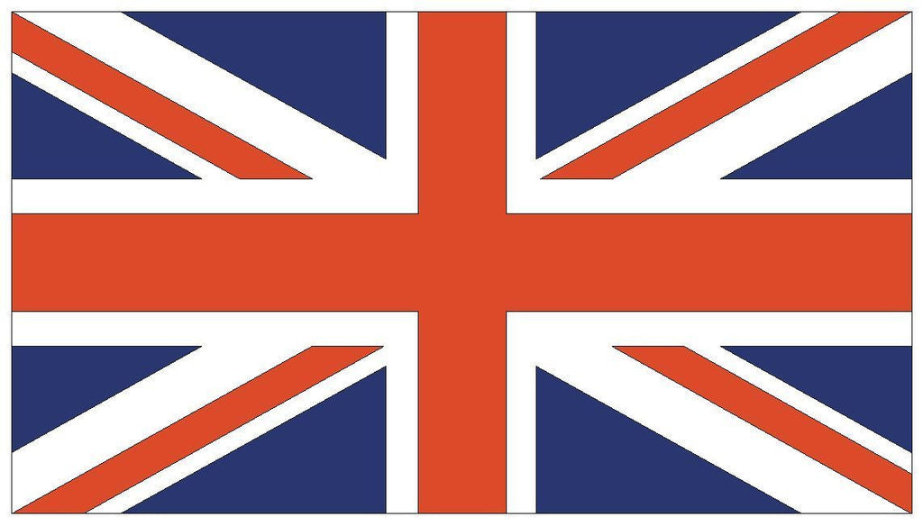 UNITED KINGDOM British Union Jack Vinyl Flag DECAL Sticker MADE IN THE USA F529 - Winter Park Products
