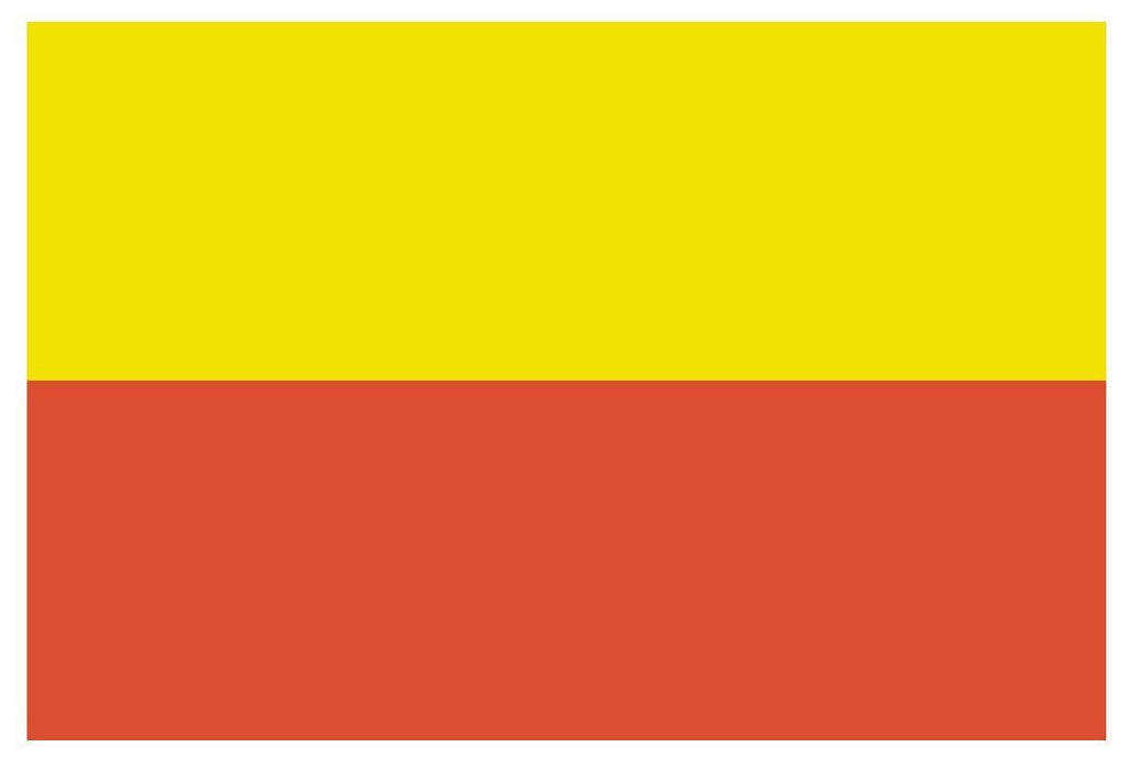 PRAGUE Spain Vinyl International Flag DECAL Sticker MADE IN THE USA F402 - Winter Park Products